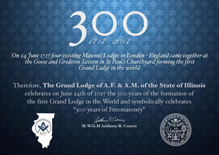 Open House Celebrating the 300th Anniversary of Freemasonry