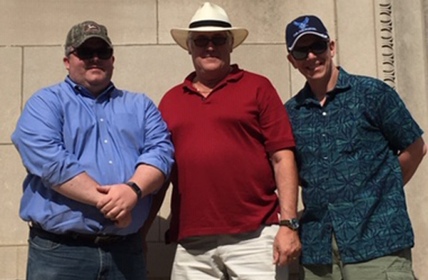 Three brethren from Libertyville Lodge #492 go on a Masonic road trip